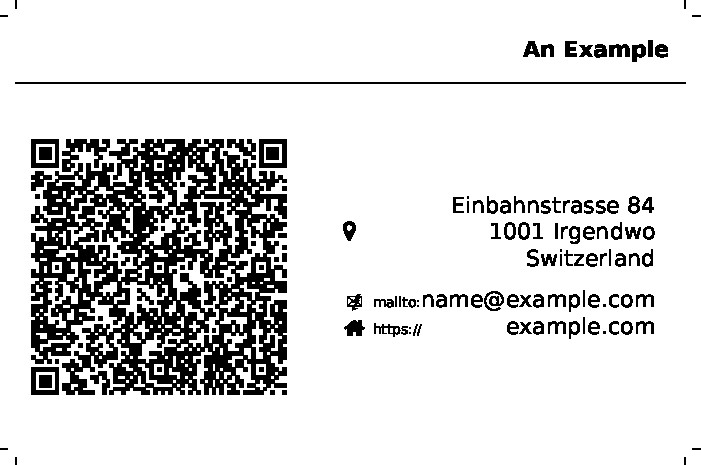 the visiting card resulting from the usage example